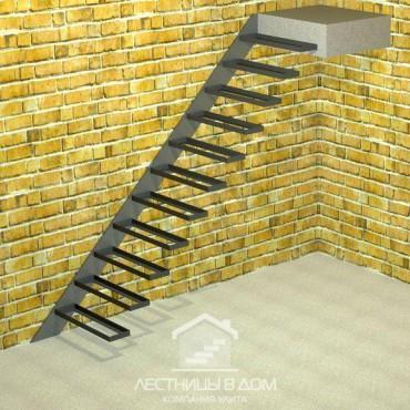 Лестница консольная прямая